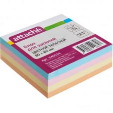Блок бумаги 8*8 Attache цветной (300 листов)