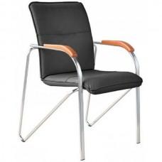 Кресло Samba  черное (искусственная кожа/вишня/металл)
