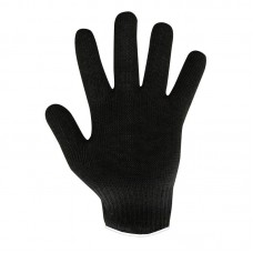 Перчатки х/б без ПВХ 5 нитей 40 г черные (10 ш/уп)