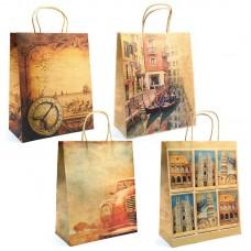 Пакет подарочный крафт-бумажный,ассорти 32x26x10 см. в Екатеринбурге