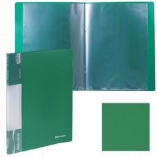Папка 10 файлов BRAUBERG 0,5 мм. зеленая в Екатеринбурге