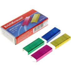 Скобы для степлера №10 Erich Krause, цветные