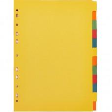 Разделитель листов А4  Attache 12 цв. цветной картон
