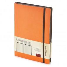 Ежедневник недатированный А-5 Bruno Visconti Megapolis Soft 136л. (кремовый блок, черный срез, оранжевый)