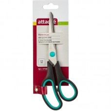 Ножницы 19,5 см Attache с пластиковыми прорезиненными анатомическими ручками