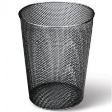 Корзина для бумаг 9 лит. металл/сетка (черная)