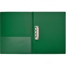 Папка с боковым зажимом+карман Attache А4 0.7 мм. зеленая (до 150 листов)