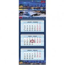 Календарь настенный трехблочный на 2019год МИНИ (197х440мм.)