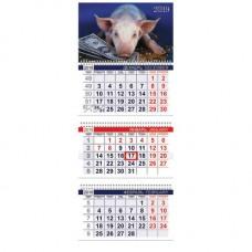 """Календарь настенный трехблочный на 2019 год """"Символ года"""" (310х707 мм)"""