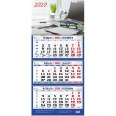 """Календарь настенный трехблочный на 2020 год """"Офис"""" (310x685 мм)"""