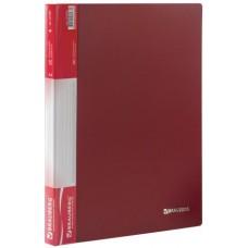 Папка на 20 файлов BRAUBERG 0,60 мм. красная