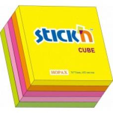Блок стикеров 51*51 неон (ассорти,5цв. 250л.)