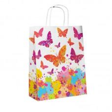 """Пакет подарочный """"Бабочки"""" 25x11x32 см"""