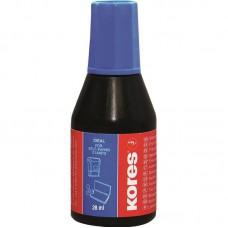 Штемпельная краска Kores 28мл.водно-масляная основа,синяя