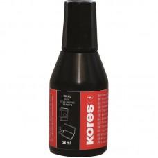 Штемпельная краска Kores 28мл.водно-масляная основа,черная