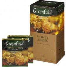 Чай Greenfield Honey Linden черный с липой и медом 25 пакетиков