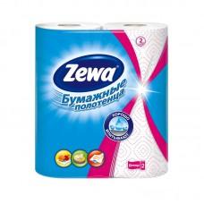 Полотенца бумажные Zewa-Декор белые с рисунком 2-слойные (2рул/уп.по 14м)