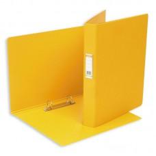 Папка на 2 кольца  Bantex (ширина корешка 35мм.диаметр кольца 25мм) желтая