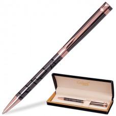 """Ручка шариковая подарочная GALANT """"Vitznau"""" корпус серый/золотистый ( 0,7 мм, синяя)"""