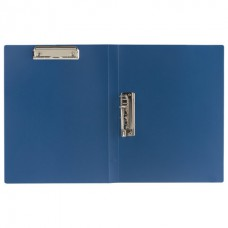 "Папка с 2-мя металлическими зажимами ""BRAUBERG "" 0,6 мм. синяя"