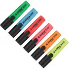 Текстмаркеры набор EDDING E-345  (толщина линии 1-5 мм, 6 цветов)