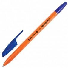 """Ручка шариковая BRAUBERG """"X-333 Orange""""0,77 мм. синяя"""