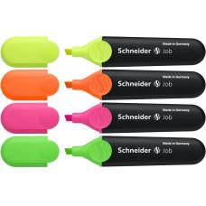 """Текстмаркеры набор Schneider  """"Job""""(толщина линии 1-5 мм, 4 цвета)"""