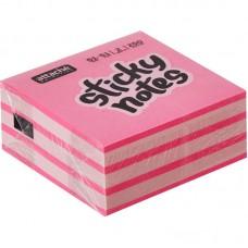 Блок стикеров 51*51 Attache Selection неон 2цв. 250л. розовый