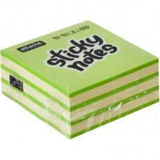 Блок стикеров 51*51 Attache Selection неон 2цв. 250л. зеленый