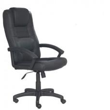"""Кресло офисное """"Лагуна"""" кожа, черное"""