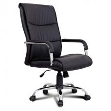 """Кресло  BRABIX """"Space EX-508"""", экокожа, хром, черное"""