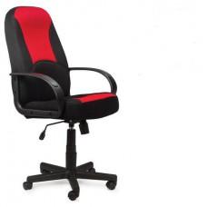 """Кресло BRABIX """"City EX-512"""", ткань черная/красная"""