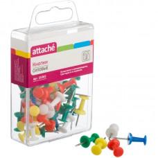 Кнопки силовые цветные Attache (11мм.30 шт/ уп)