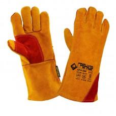 Перчатки-Краги спилковые пятипалые