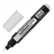 Маркер для  досок, круглый наконечник, 2-3 мм, белый