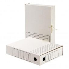 Короб архивный Attache картон белый 75мм. на завязках