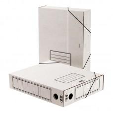 Короб архивный 75мм.гофрокартон белый, на резинках в Екатеринбурге
