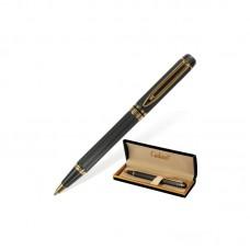 """Ручка шариковая подарочная GALANT """"Dark Chrome"""", корпус матовый хром, золотистые детали ( 0,7 мм, синяя)"""