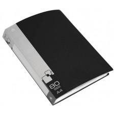 Папка на 80 файлов Бюрократ 0.8мм.черная