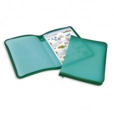 Папка на молнии А4 пластиковая,зеленая