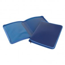 Папка на молнии А4 пластиковая,синяя