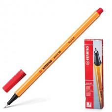 Ручка капиллярная (линер) Stabilo Point 88 0.4 мм красная