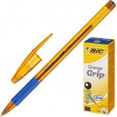 Ручка шариковая масляная BIC Orange grip fine синяя