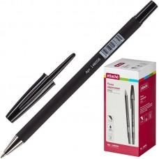 Ручка шариковая Attache Style (0.5мм, прорезинный корпус, черная)