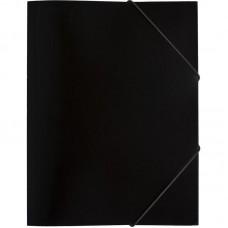 Папка на резинке Attache А4 пластиковая черная (0.35 мм, до 300 листов)