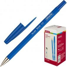 Ручка шариковая Attache Style  (0,5 мм,прорезиненный корпус,синяя)