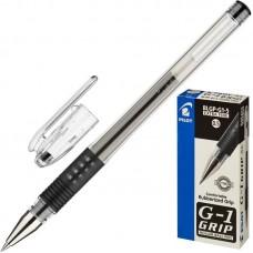 Ручка гелевая Pilot BLGP-G1-5 с резиновой манжеткой, черная