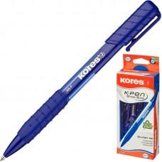 Ручка шариковая Kores К6 треугольный корпус, синяя, 0,5 мм (трехгранная)