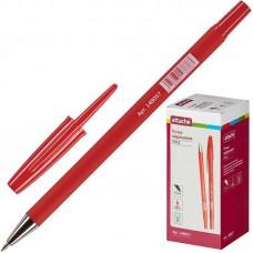 Ручка шариковая Attache Style (0.5мм, прорезинный корпус, красная)
