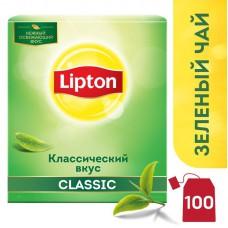 Чай Lipton Green зеленый, 100 пакетиков